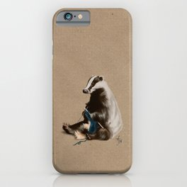 Badger Knitting a Scarf iPhone Case