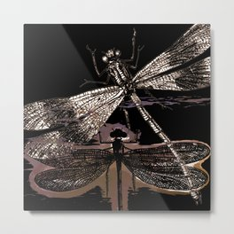 DRAGONFLY meets a friend III Metal Print