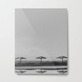 Beach Umbrellas Metal Print
