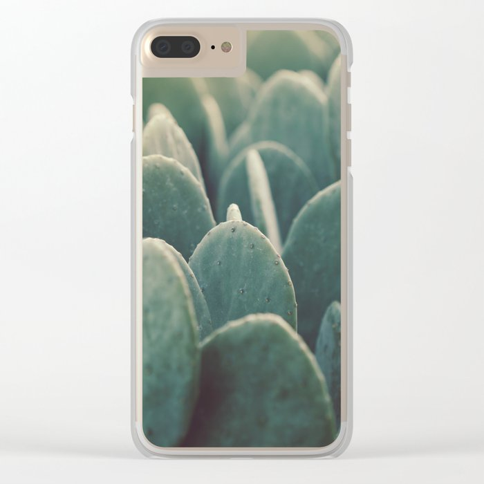 Green + Gold Clear iPhone Case