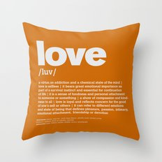 definition LLL - Love 10 Throw Pillow