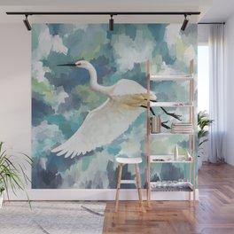 Florida Egret Wall Mural