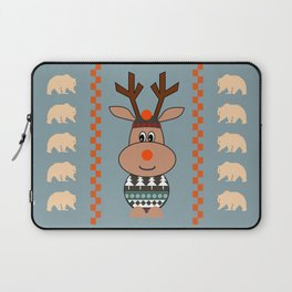 Reindeer and bears- winter decor Laptop Sleeve