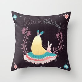 Alice In Wonderland. Throw Pillow