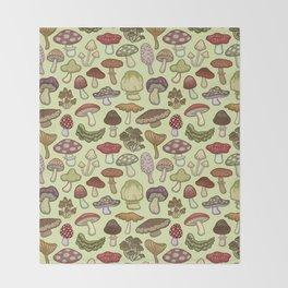Mushroom Circle Throw Blanket