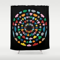wine Shower Curtains featuring Wine O'Clock by Project M