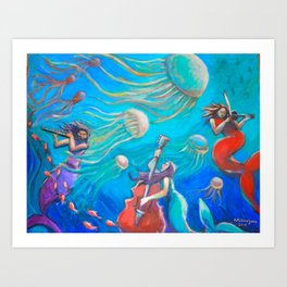 Mermaids Serenade Art Print