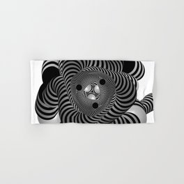 Black and White Abstract Design Hand & Bath Towel