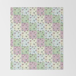 Pajama'd Baby Goats - Small Patchwork Throw Blanket