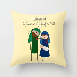 The Christmas Family Throw Pillow
