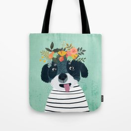 PUPPY DOGS WITH FLOWERS Tote Bag