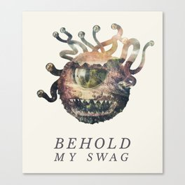 Beholder (Typography) Canvas Print