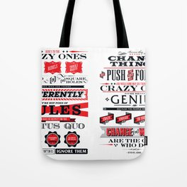 "Steve Jobs ""Here's to the crazy ones"" quote print Tote Bag"