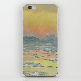 "Claude Monet ""Sunset on the Seine in Winter"" iPhone Skin"