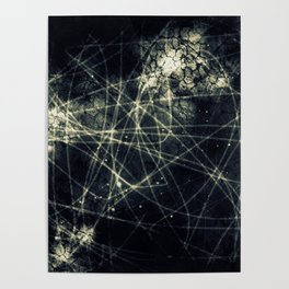 Infinity Particles Abstract Poster