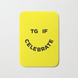 TGIF Celebrate Bath Mat
