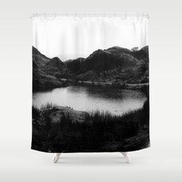 Fairy Glen, Isle of Skye, B/W Shower Curtain