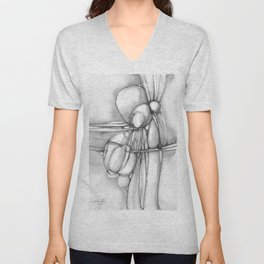 Nature Poetry A by Kathy Morton Stanion Unisex V-Neck