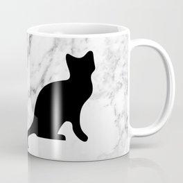 Marble black cat Coffee Mug
