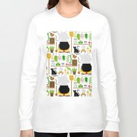 lab Long Sleeve T-shirts featuring Witch's lab by Ana Linea