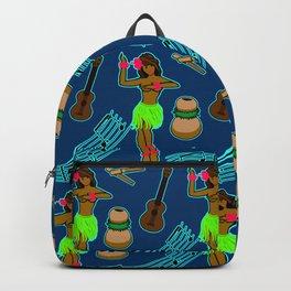 Hawaii Pattern #2 in Blue Backpack