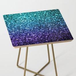 Beautiful Aqua blue Ombre glitter sparkles Side Table