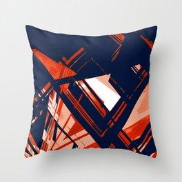 Static1, rwb Throw Pillow