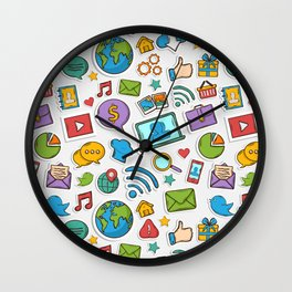 Like me all over the world Wall Clock