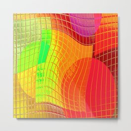 Re-Created Function f(x) No. 7 by Robert S. Lee Metal Print