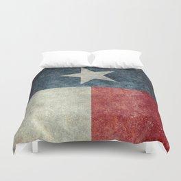 Texas state flag, vintage banner Duvet Cover