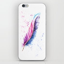 Feather Watercolor Painting iPhone Skin