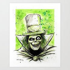 Hat Box Ghost Art Print
