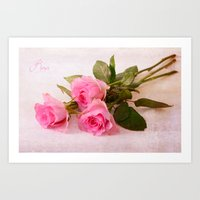 roses Art Prints featuring Roses by Fine Art by Rina