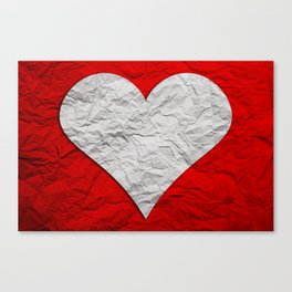 Heart Texture Canvas Print