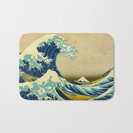 The Great Wave Bath Mat