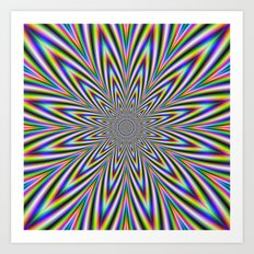 Psychedelic Star Art Print
