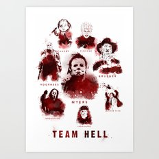 Team Hell #3 Art Print