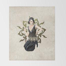 1920s Jazz Siren Throw Blanket