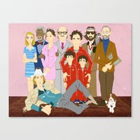 royal tenenbaums Canvas Prints featuring Royal Tenenbaums Family Portrait  by AnaMF