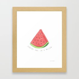 melon Framed Art Print