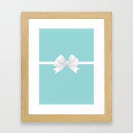 Turquoise & White Bow Framed Art Print