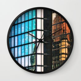 Reflections of Copley Square Buildings, Boston Wall Clock