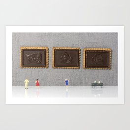 museum of chocolate cookies Art Print