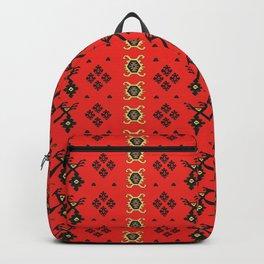 Birds Couple in Love Red Pirot Kilim  Backpack