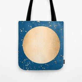 Paint Spatter Sun - Orange Sherbet Shimmer on Saltwater Taffy Teal Tote Bag