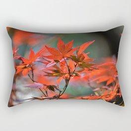 Scarlet Japanese Maple Leaves Rectangular Pillow