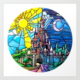 Sleeping Beauty's castle Art Print