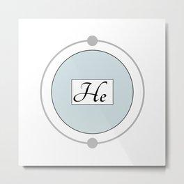 Helium - Bohr Model Metal Print