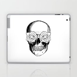 Skull and Roses | Black and White Laptop & iPad Skin