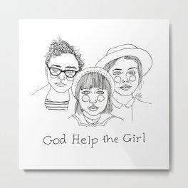 God Help the Girl Metal Print